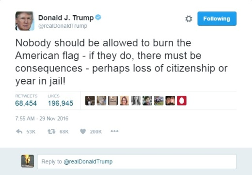 trumpflagtrolltweet
